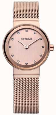 Bering Rose gold klassieke maas horloge 10122-366