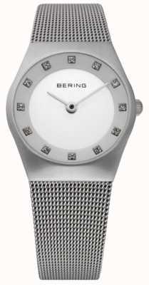 Bering Minimalistisch dameshorloge | roestvrij stalen gaas armband | 11927-000