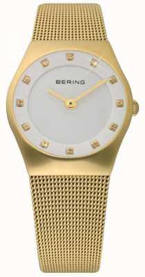 Bering Tijd dames goud mesh horloge 11927-334