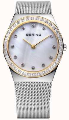 Bering Steen ingelegd ultraslanke horloge 12430-010