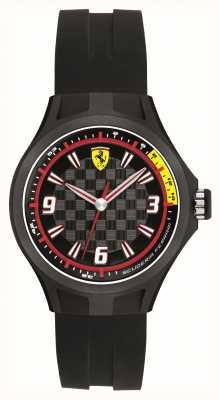 Scuderia Ferrari Mens pitcrew zwart rubber 50m 0820001