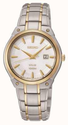 Seiko Ladies 'two tone, zonne-energie horloge SUT128P1