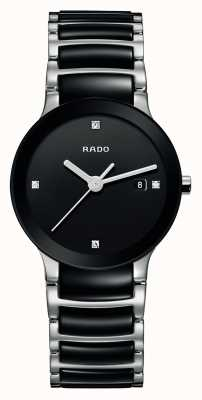 Rado | centrix diamanten | hightech keramiek | zwarte wijzerplaat | R30935712