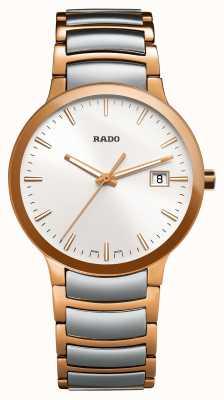 Rado Centrix tweekleurig roestvrijstalen horloge met witte wijzerplaat R30554103