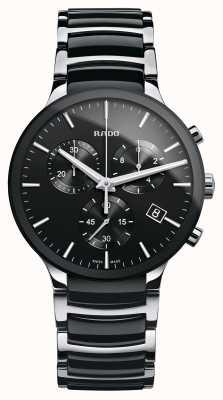 Rado | centrix chronograaf | hightech keramiek | zwarte wijzerplaat R30130152