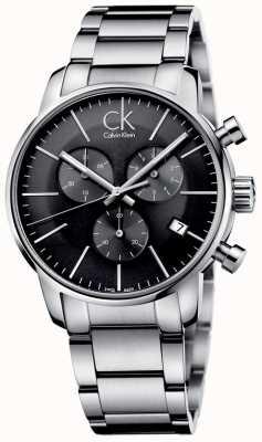 Calvin Klein Mens stad roestvrij staal grijze wijzerplaat horloge K2G27143