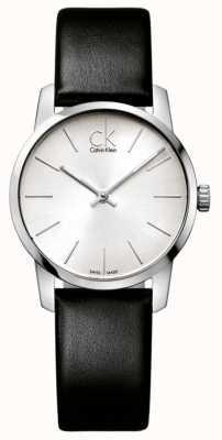 Calvin Klein Stadshorloge dames minimalistisch zilver K2G231C6