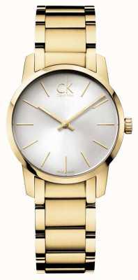 Calvin Klein Dames stad geel goud pvd horloge K2G23546
