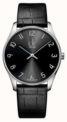 Calvin Klein Classic lederen herenhorloge K4D211CX