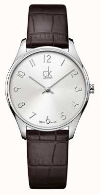 Calvin Klein Klassieke lederen dames horloge K4D221G6