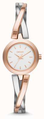 DKNY zebrapad staal Ladies '& rose armband horloge NY2172
