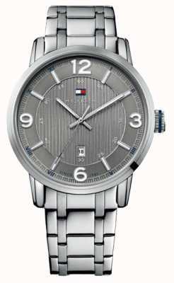 Tommy Hilfiger Heren grijs en zilver george klassiek horloge 1710345