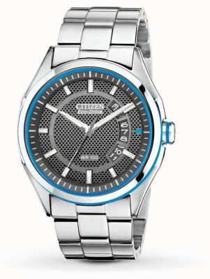 Citizen Heren eco drive htm roestvrij stalen armband datum horloge AW1141-59E