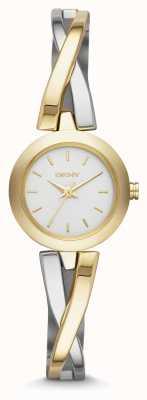 DKNY Dames crosswalk gouden zilveren horloge NY2171