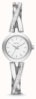 DKNY Dames crosswalk zilver steen set horloge NY2173