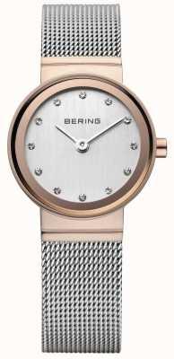Bering Women's klassieke rose goud-tone horloge 10126-066