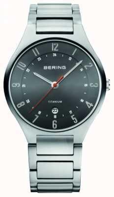 Bering Gents titanium quartz analoog horloge 11739-772