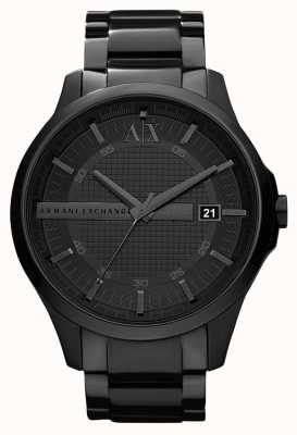 Armani Exchange Mens slimme zwarte PVD plated roestvrij staal AX2104