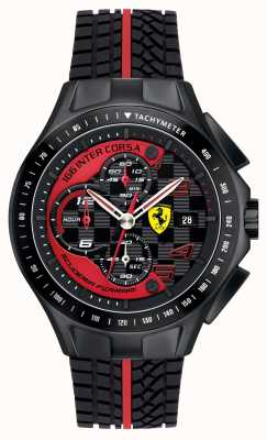 Scuderia Ferrari De racedag van mensen, zwart, rubberriemhorloge 0830077