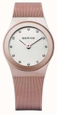Bering Dames roestvrij staal quartz analoog horloge 12927-366