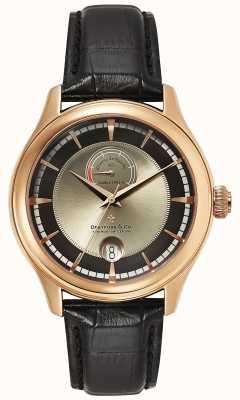 Dreyfuss Mens reserve de marche rose gouden horloge DGS00113/04