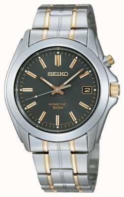 Seiko Gents two-tone zwart wijzerplaat armband horloge SKA271P1