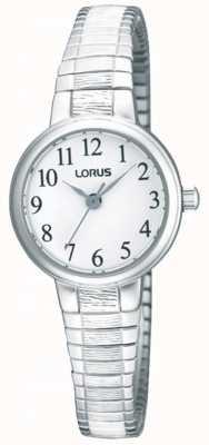 Lorus Dames stalen expander armband horloge RG239NX9