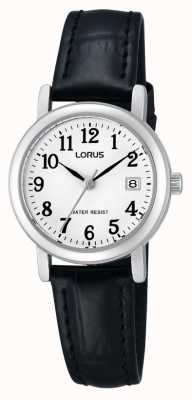 Lorus Dames lederen band horloge RH765AX9