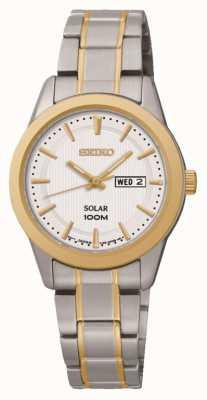 Seiko Dames dag / datum weergave horloge SUT162P1