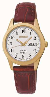 Seiko Dames op zonne-energie horloge SUT196P1
