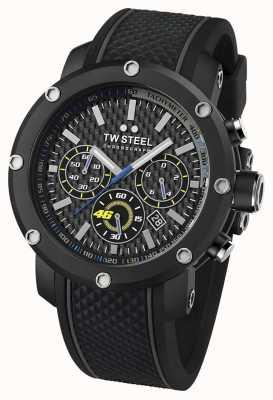 TW Steel Mens VR46, zwarte, rubberen band chronograaf TW0937