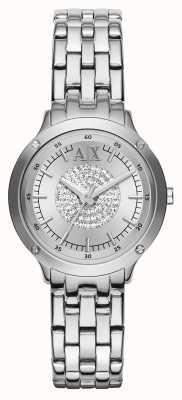 Armani Exchange Crystal armband riem horloge AX5415