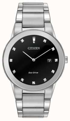 Citizen | mens eco-drive axioma | zwarte diamanten wijzerplaat | AU1060-51G
