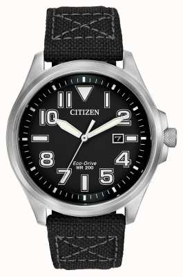 Citizen Mens militaire eco-rijden strap watch AW1410-08E