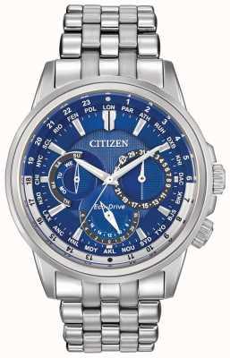 Citizen Mens calendrier wereld timer Eco-Drive horloge BU2021-51L