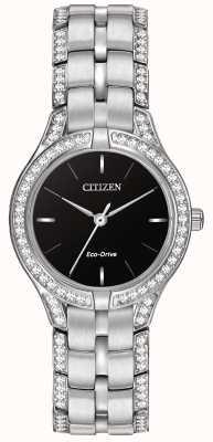 Citizen Dames silhouet kristal Eco-Drive horloge FE2060-53E