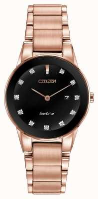 Citizen Womens axioma rose goud verguld eco-rijden GA1058-59Q