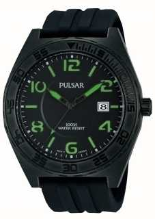 Pulsar Gents zwarte quartz analoog horloge PS9317X1