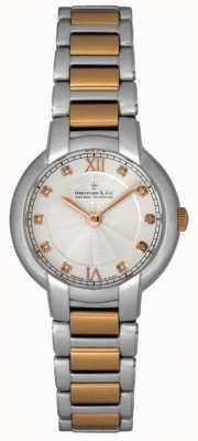 Dreyfuss Dames diamant set two tone horloge DLB00062/D/01