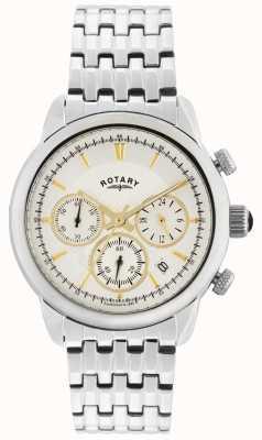 Rotary Gents zilver zilver quartz analoog horloge GB02876/02