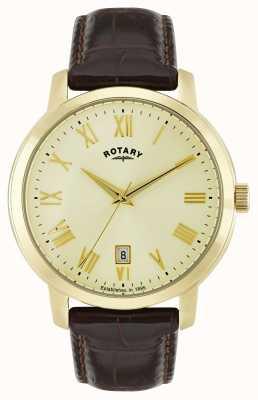 Rotary Mens sloane goudkleurig horloge GS02462/03