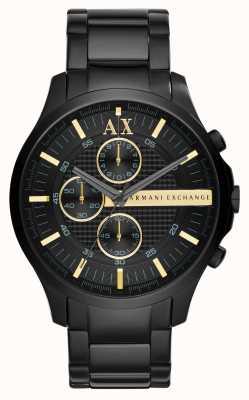 Armani Exchange Mens allemaal zwart chronograaf AX2164