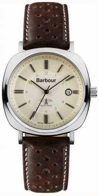Barbour heren baken rijden bruine horloge BB018SLBR