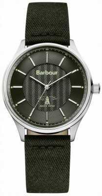 Barbour Mens glysdale zekering zwart horloge BB021SLBK