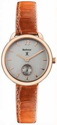 Barbour Dames Whitley bruin lederen horloge BB035RSTN