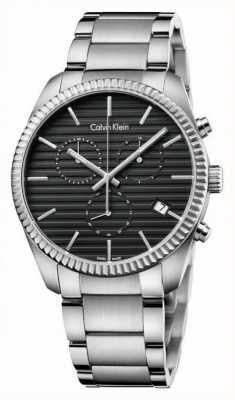 Calvin Klein Mens alliantie zilveren chronograaf K5R37141