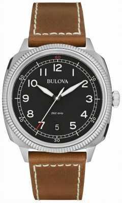 Bulova Heren militaire uhf zwart bruin horloge 96B230