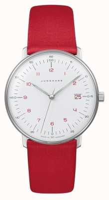 Junghans Max bill lady | kwarts | rode riem 047/4541.04