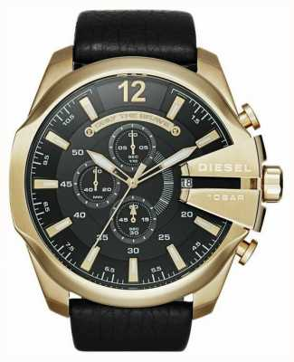 Diesel Mannen mega chief goudkleurig chronograafhorloge DZ4344