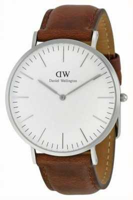 Daniel Wellington Heren bruin lederen quartz analoog horloge DW00100021